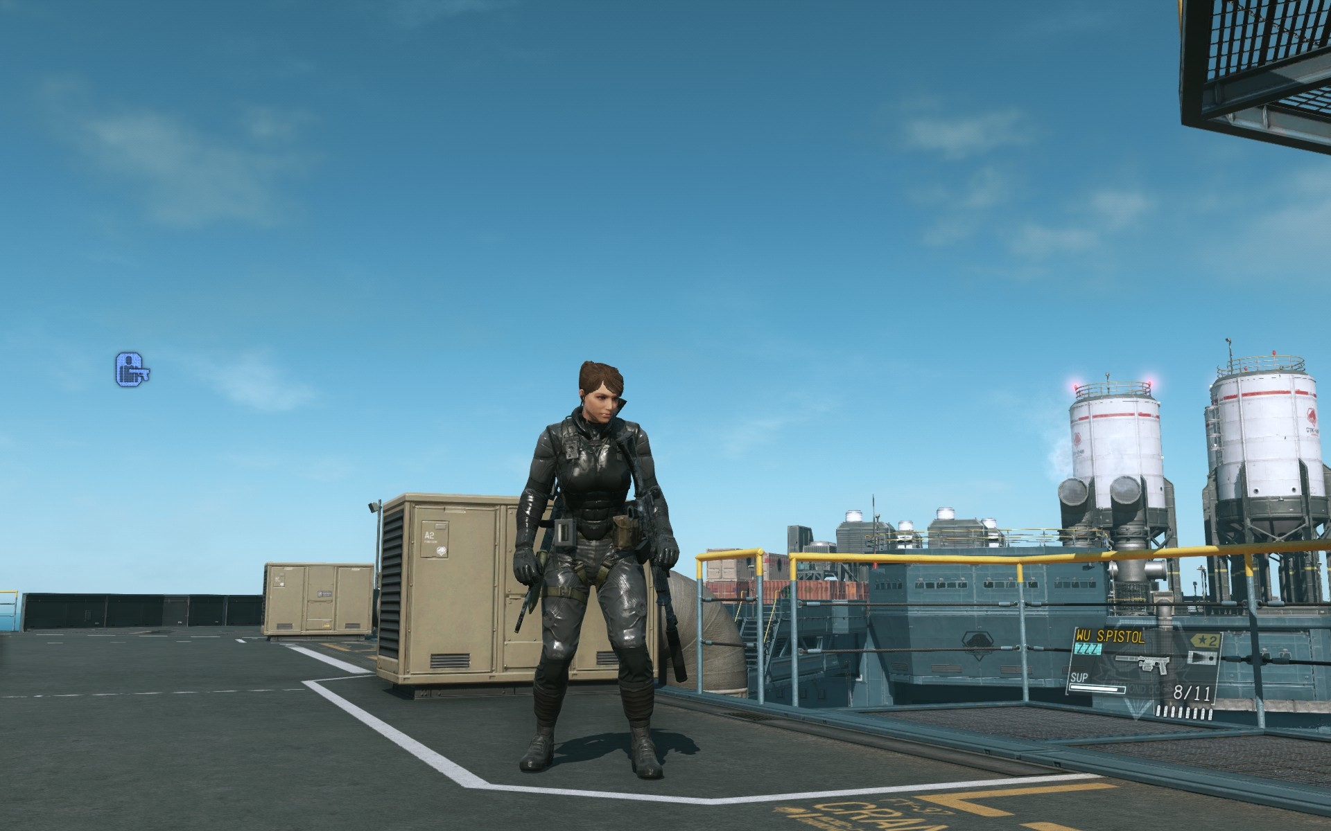 Female sodier in Metal Gear Solid 5