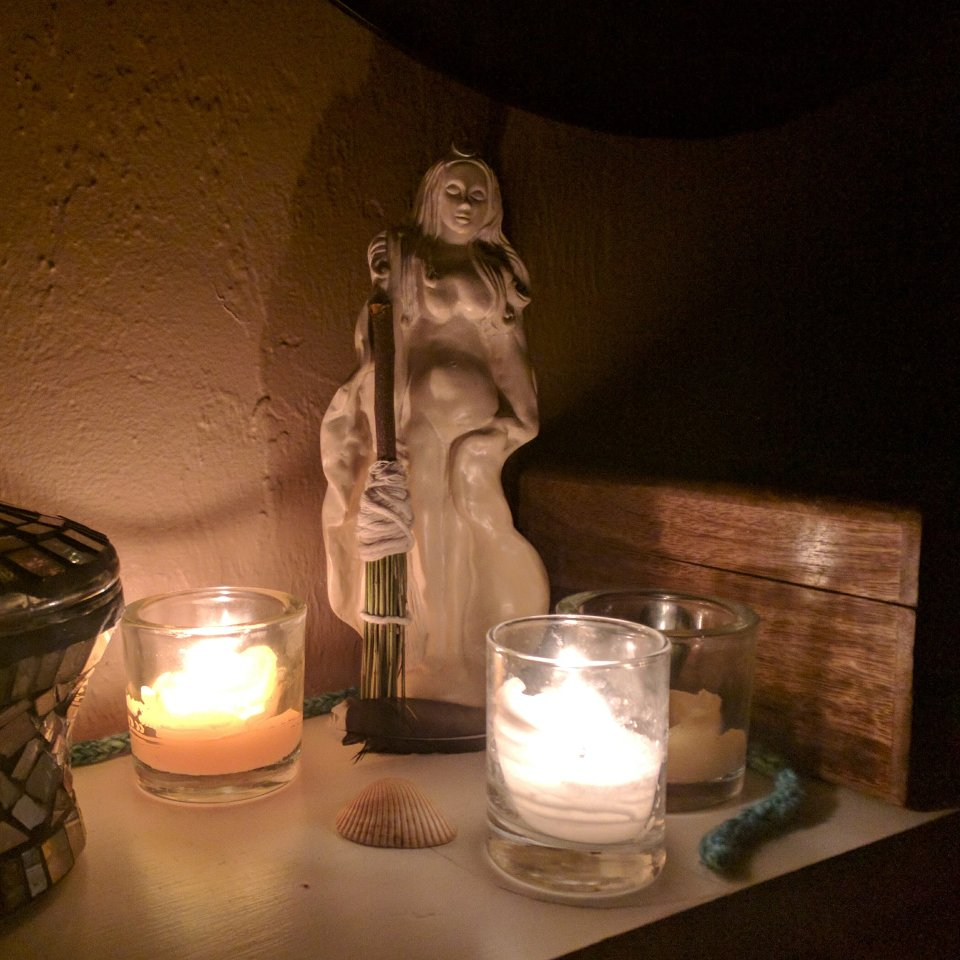 Candlelit Image of an Altar