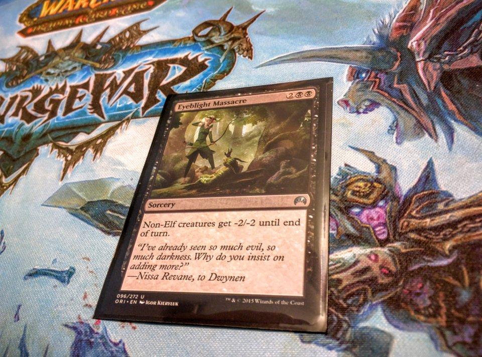 The Magic card Eyeblight Massacre